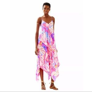 Lilly Pulitzer Rylan Sandy Rays Silk Maxi Dress